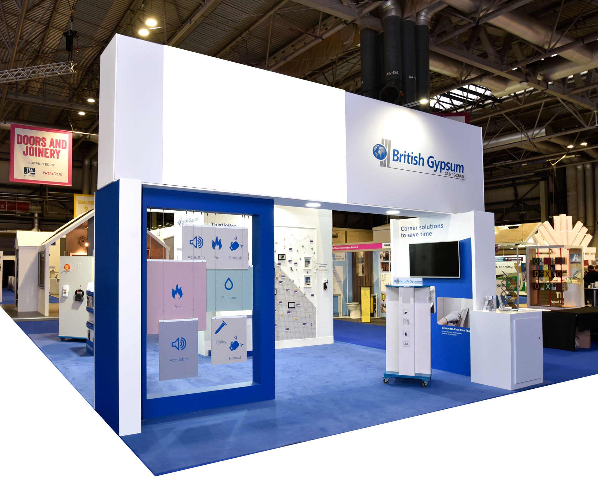 Interactive Exhibition Stand : British gypsum interactive exhibition stand led wall at jewson